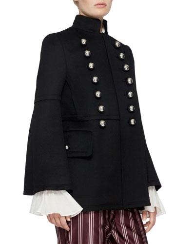 Military Wool Jacket, Black