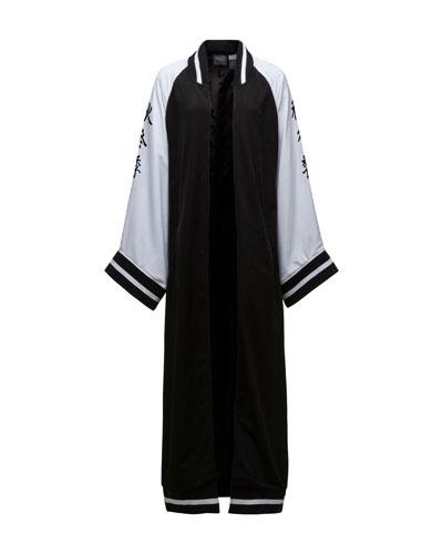 Maxi Kimono Track Jacket, Puma Black