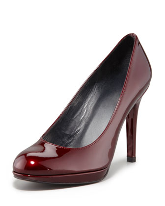Platswoon Patent Leather Pump, Tinto