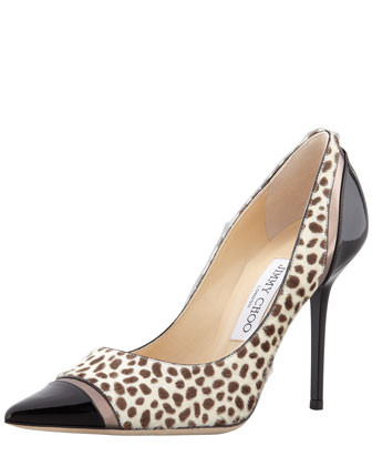 Lumina Cheetah-Print Cap-Toe Pump