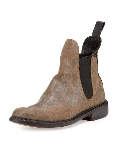 Dartford Suede Chelsea Boot, Metal taupe