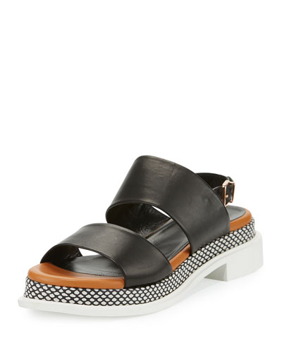 Camas Two-Band Slingback Sandal, Black