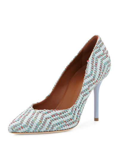 Brenda Woven Jacquard Pump, Green/Dusty Blue
