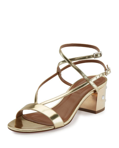 Sunset Siren Strappy Block-Heel Sandal, Gold
