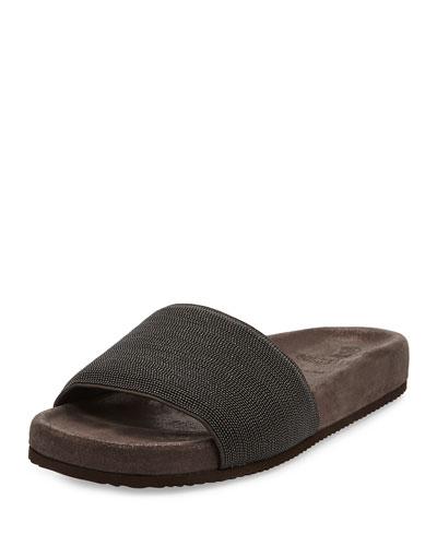 Monili Flat Slide Sandal