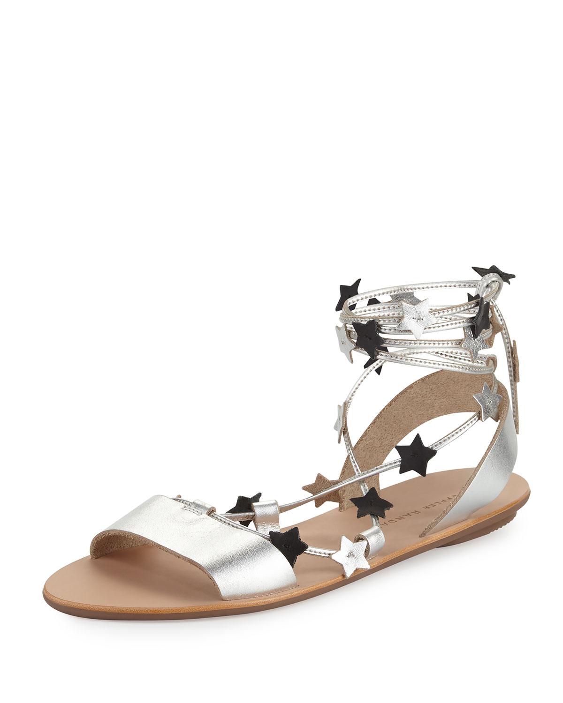 Starla Flat Leather Gladiator Sandal