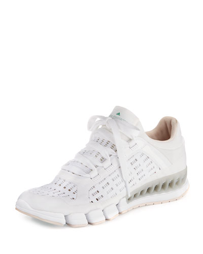 Clima Cool Knit Running Sneaker, White/Black Echo