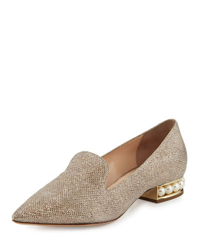 Casati Pearly Suede Loafer, Champagne