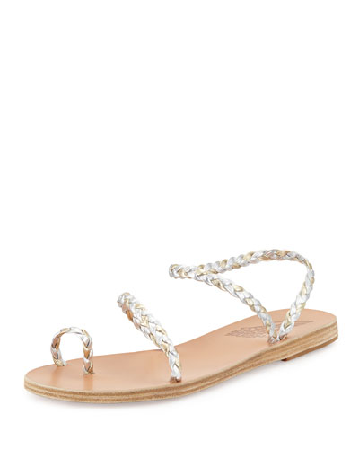 Eleftheria Braided Toe-Ring Sandal