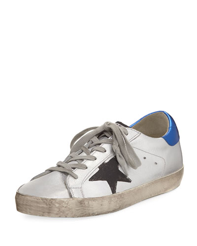 Superstar Metallic Low-Top Sneaker, Silver