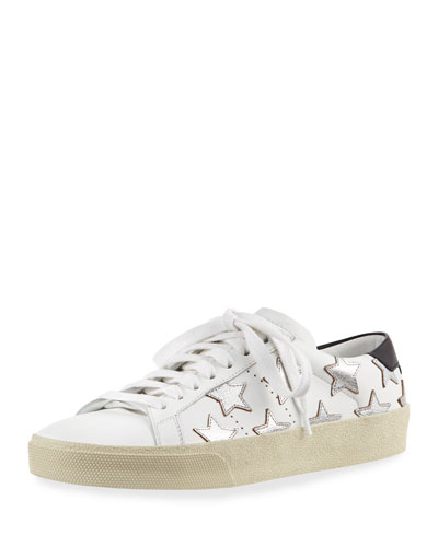 Court Classic Denim Low-Top Sneaker, Silver