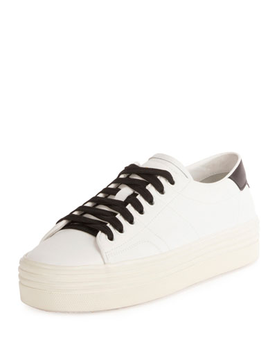 Court Classic Low-Top Platform Sneaker, White