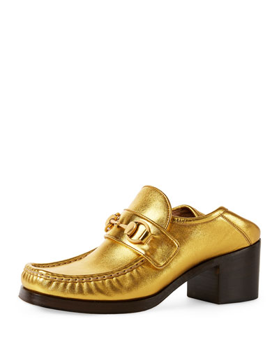 Vegas Horsebit 55mm Loafer, Yellow