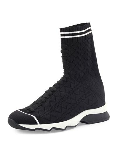 Zigzag-Knit Sock Sneaker