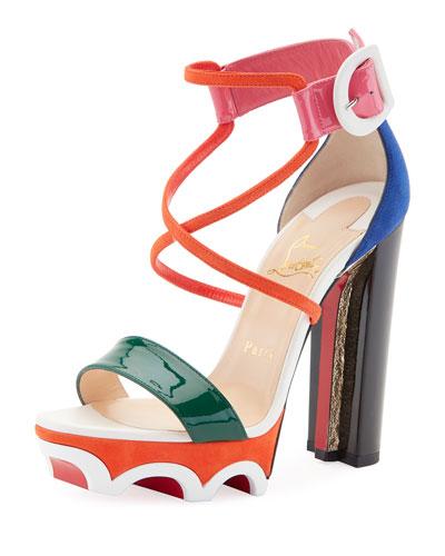 Olympika Colorblock Red Sole Sandal, Multi