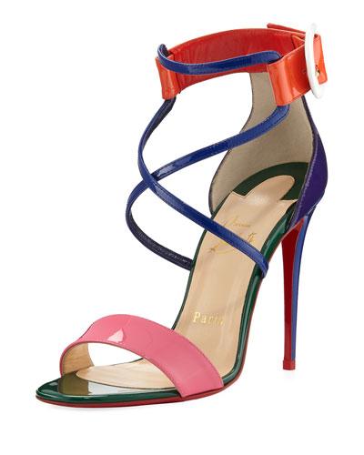 Choca Colorblock Red Sole Sandal, Multi