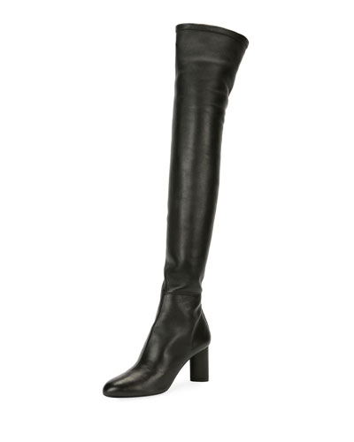 Stretch Combo Over-The-Knee Boot, Black
