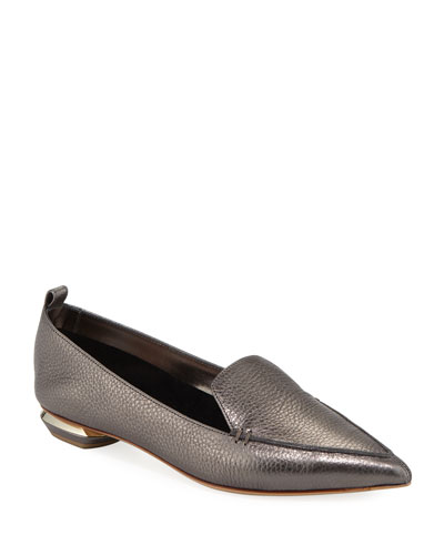 Beya Metallic Leather Loafer