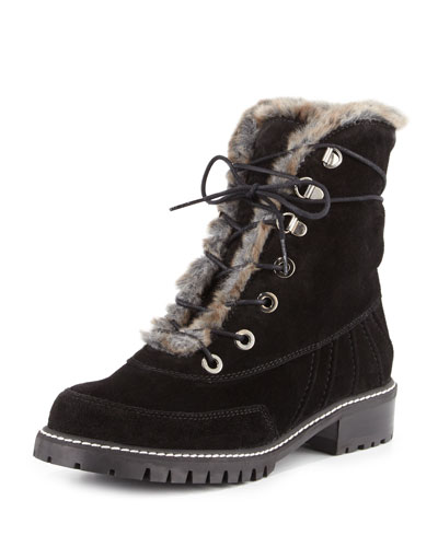 Forest Shearling Hiker Boot, Praline