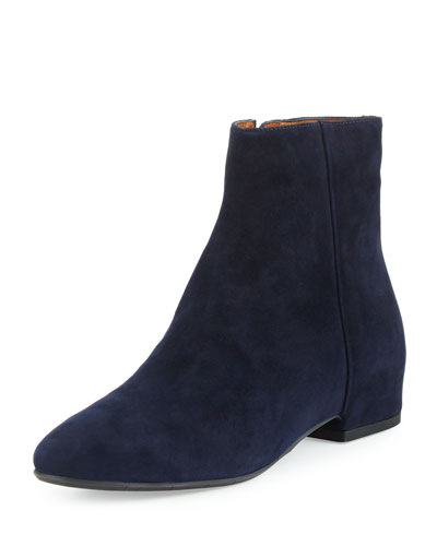 Uri Suede Ankle Boot, Navy