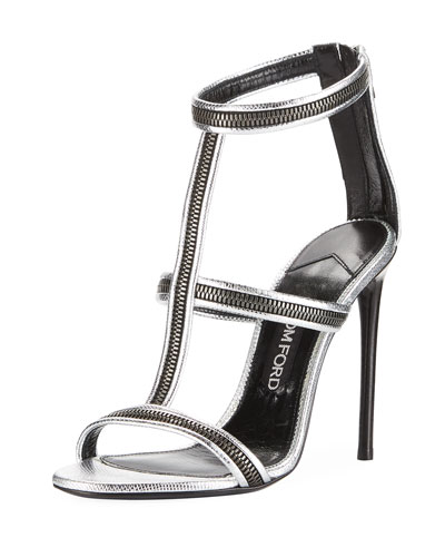 Zipper Caged 105mm Sandal