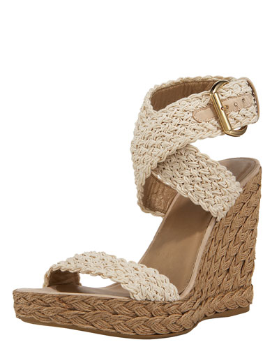 Crocheted Crisscross Espadrille