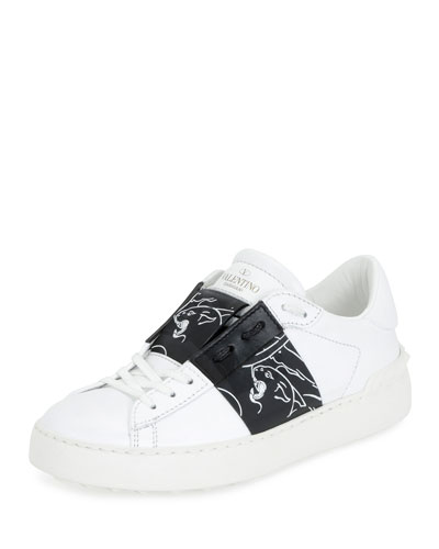 Camupanter Low-Top Sneaker, White/Black