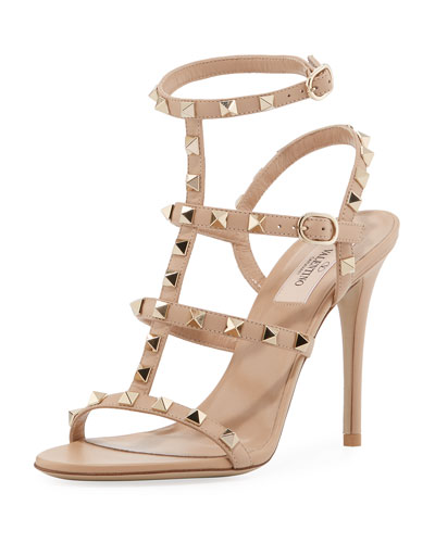 Rockstud Leather 105mm Sandal