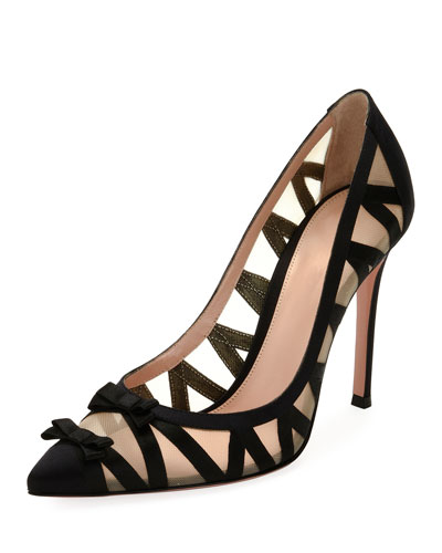 Zigzag Illusion 105mm Bow Pump, Black