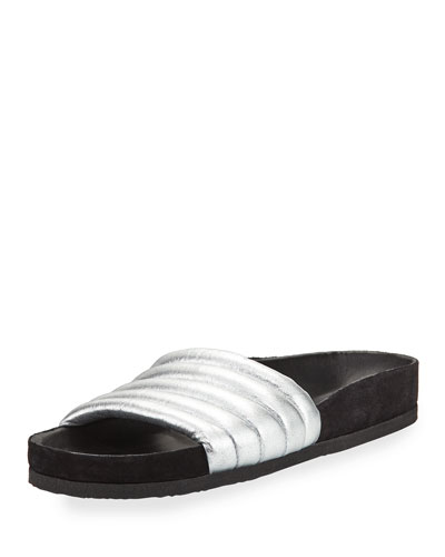 Hellea Leather Slide Sandal