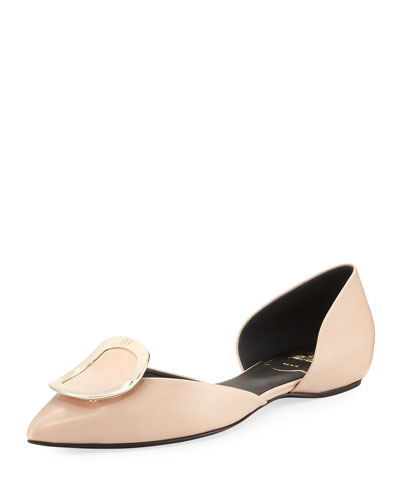 Sexy Choc Leather Ballerina Flat