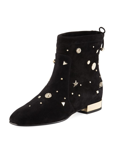 Astre Studded Suede Ankle Boot