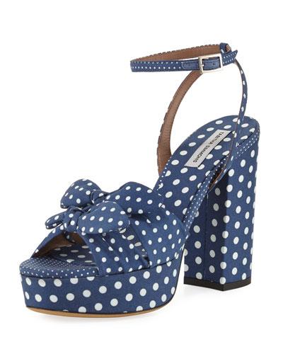 Jodie Polka Dot Ankle-Strap Sandal