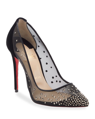 Follies Strass-Embellished Red Sole Pump