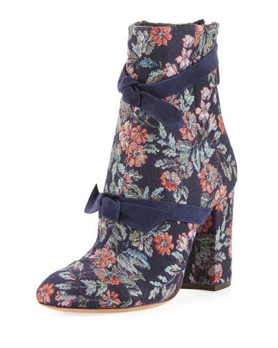 Lauren Floral Jacquard Bow Boot