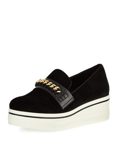 Binx Velvet Platform Loafer Sneaker