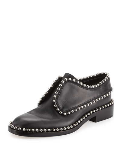 Wendie Studded Laceless Loafer, Black