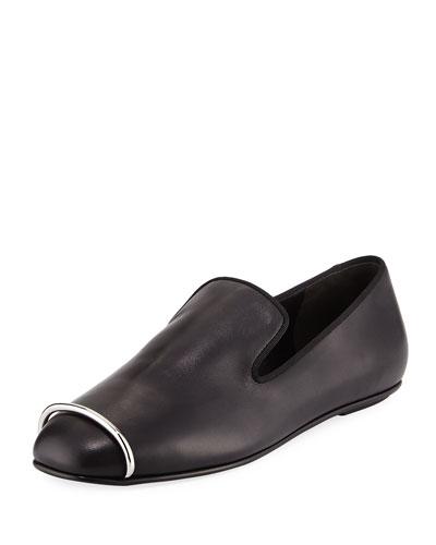 Binx Leather Hardware Loafer,  Black