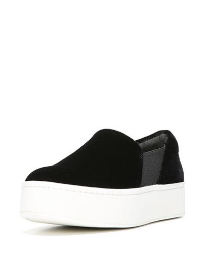 Vince. Woman Velvet Platform Sneakers Dark Brown Size 9 Vince gDAINd7Mi8