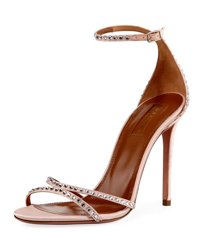 Puriest Crystal-Embellished Sandal, Blush