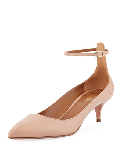 Kisha Ankle-Strap 45mm Pump, Light Pink