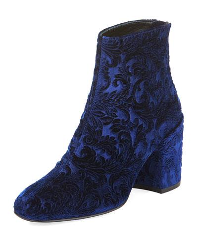 Bacari Romantic Velvet Bootie, Blue