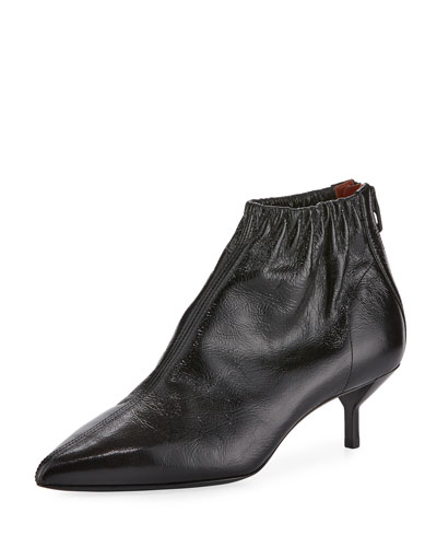 Blitz Leather Ankle Booties - Black Size 9