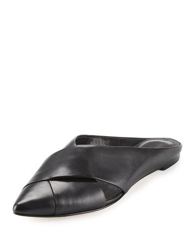 Sheldon Leather Point-Toe Mule
