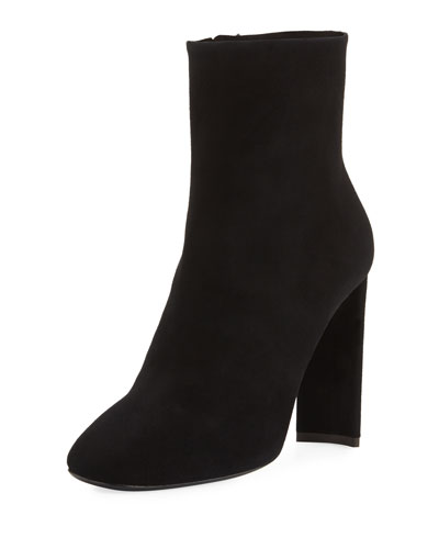 Suede Crystal-Heel Boot