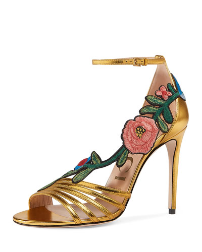 105mm Ophelia Embroidered Sandal
