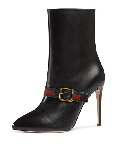 Sylvie Web Strap High-Heel Boot