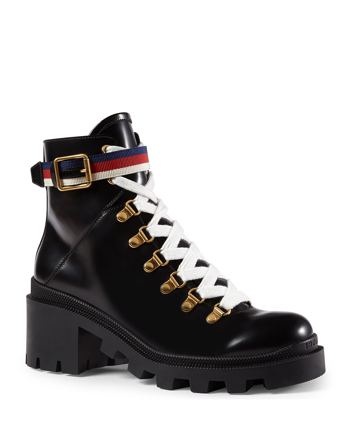 Trip Leather Combat Boot
