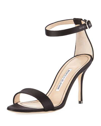 Chaos Satin Sandal, Black