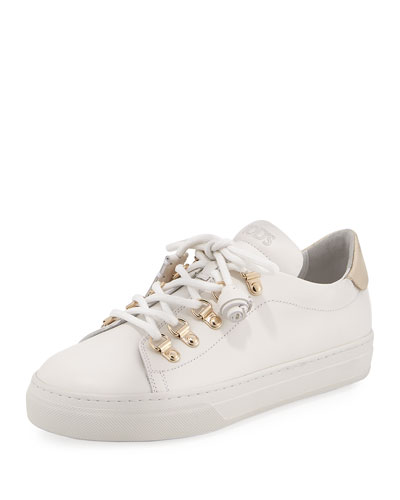 Lace-Up Leather Hiker Sneaker, White